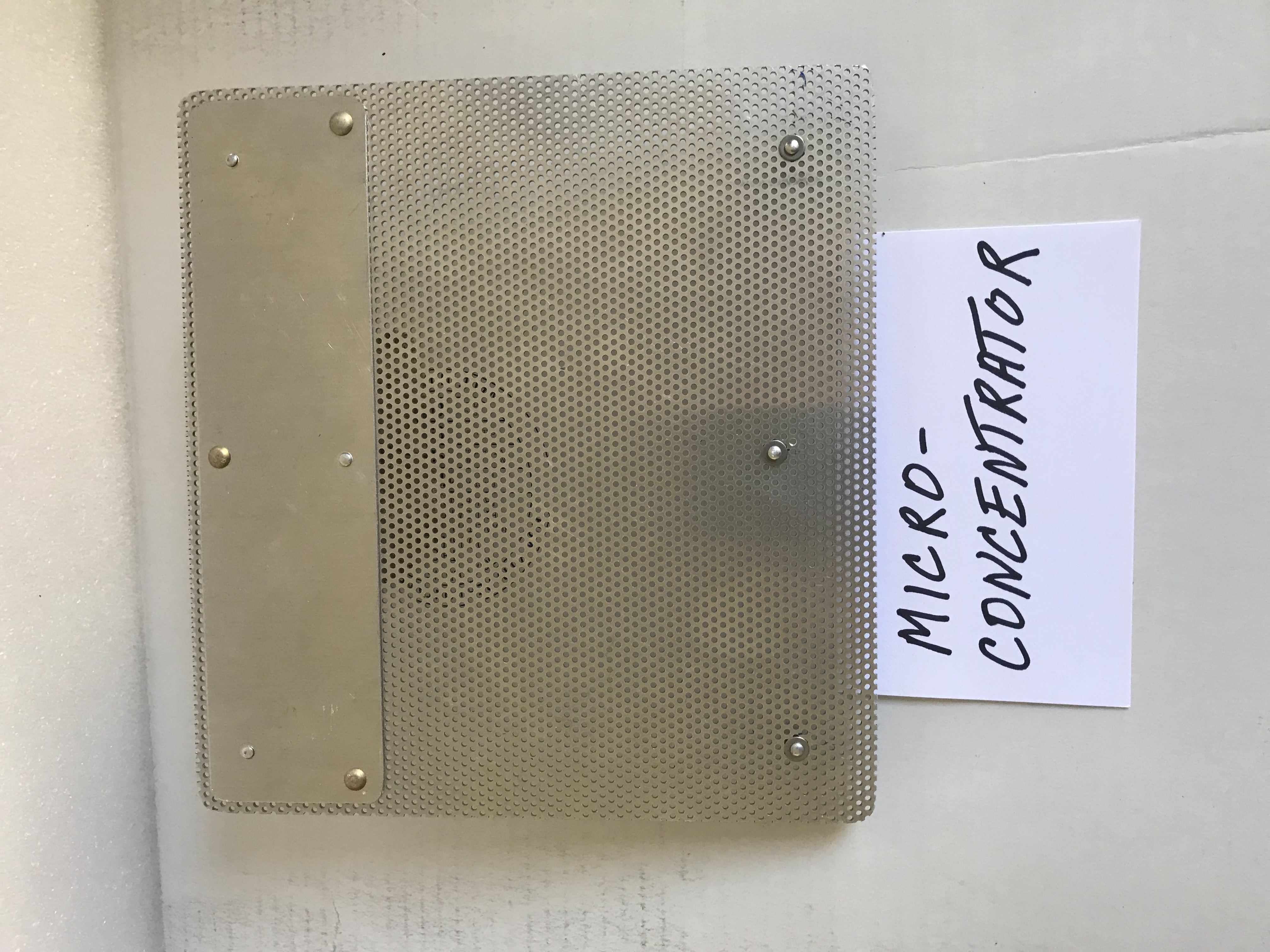 Micro-Concentrator Punch Plate Assembly